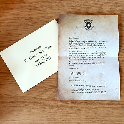House Prefect Letter