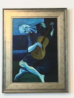 The Old Guitarist Picasso..Matthews