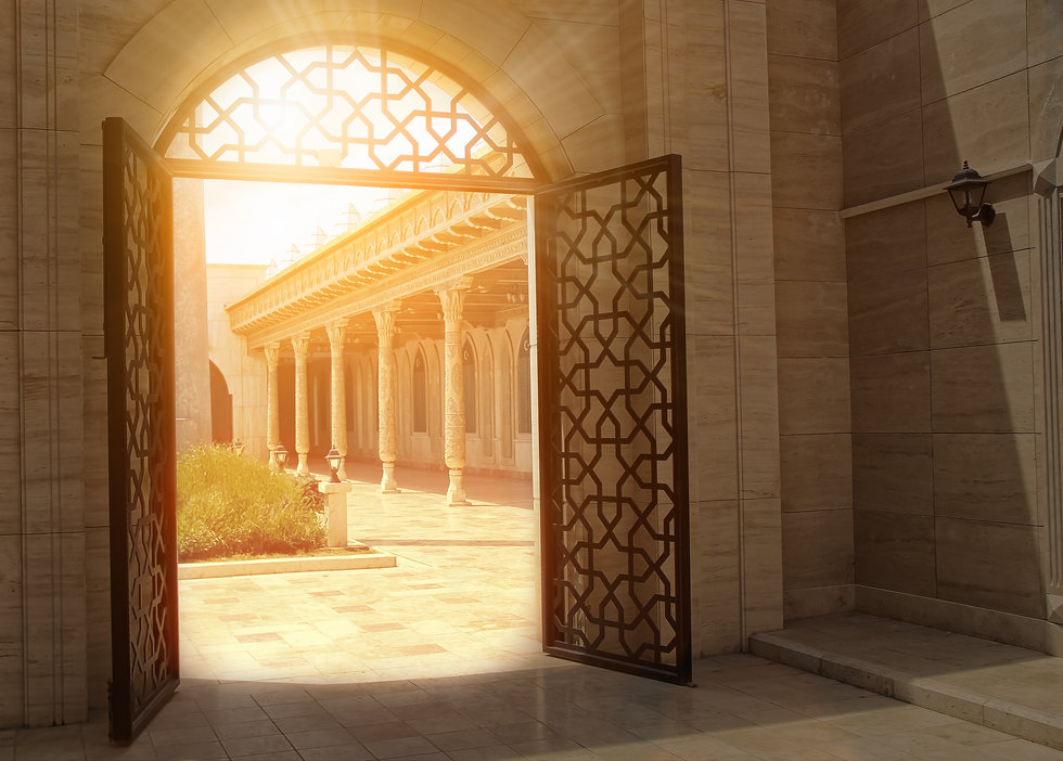 mystic view of gate with sunlight..jpg