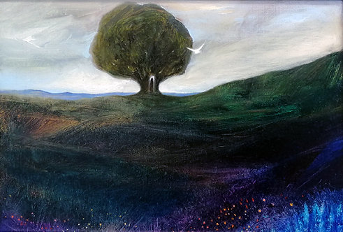 """""""I Am Here"""" Oil painting"""