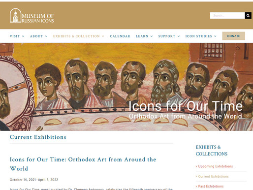 """""""Icons for Our Time: Orthodox Art from Around the World"""""""