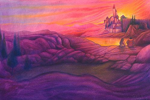 Together - Oil, Colour pencils & pastels on paper - Original
