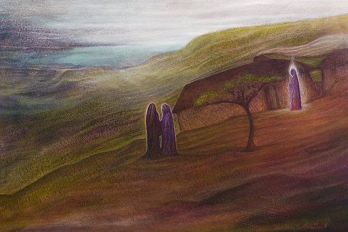 I Like the Angel of this House - Oil, Pencils & pastels on paper - Original