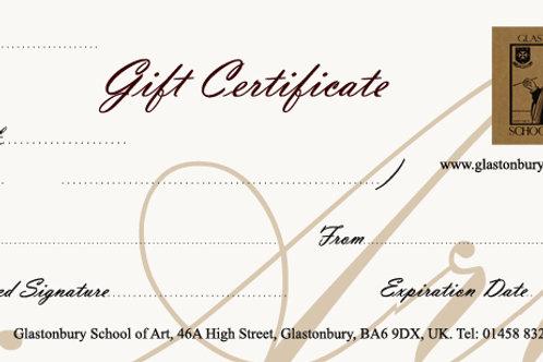 Gift Voucher Workshop Certificate