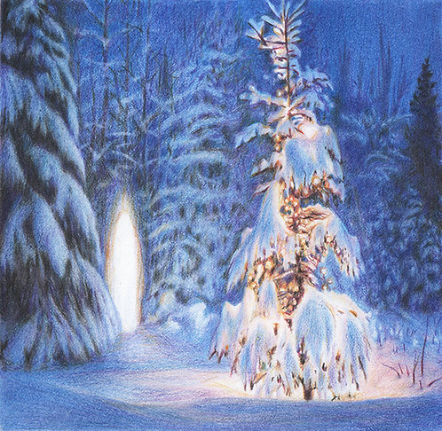 """Midwinter Light"" Pastels & Colour Pencils on paper"
