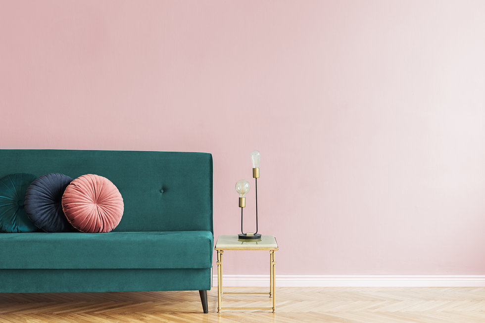Minimalistic and luxury pastel pink home