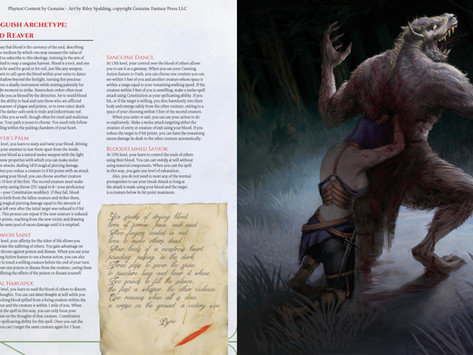 COSMR Preview - The Red Reaver Rogue