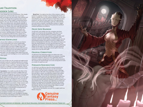 Forbidden Lore - A New Wizard Tradition!