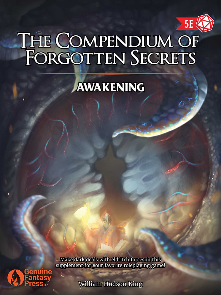 5E Warlock Patrons and more! The Compendium of Forgotten Secrets Awakening