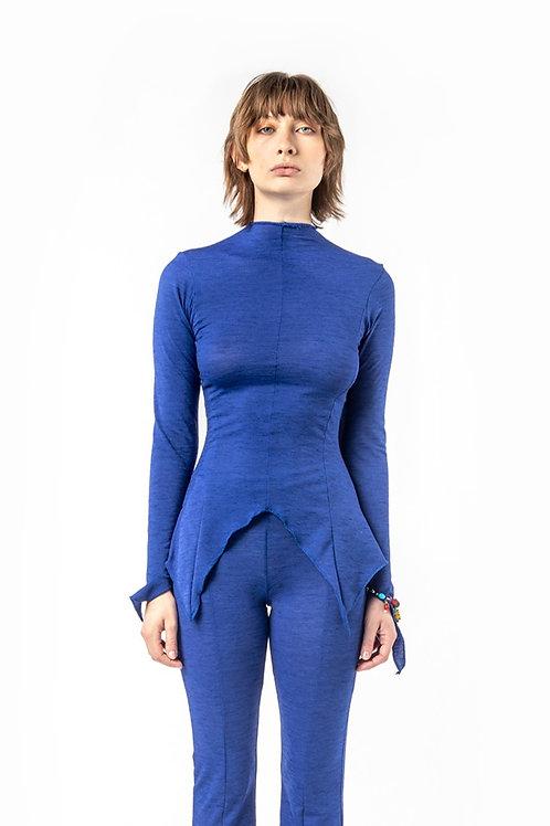 KA - HE - Web Merino Top - Blue Stripe
