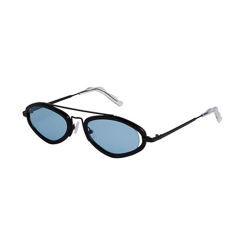 POMS- Fiori Black & Blue Sunglasses