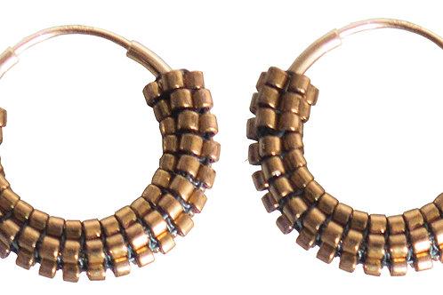 POMS- Bronze Hoops