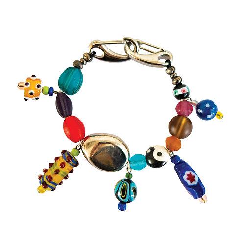 POMS- Beaded Charm Bracelet