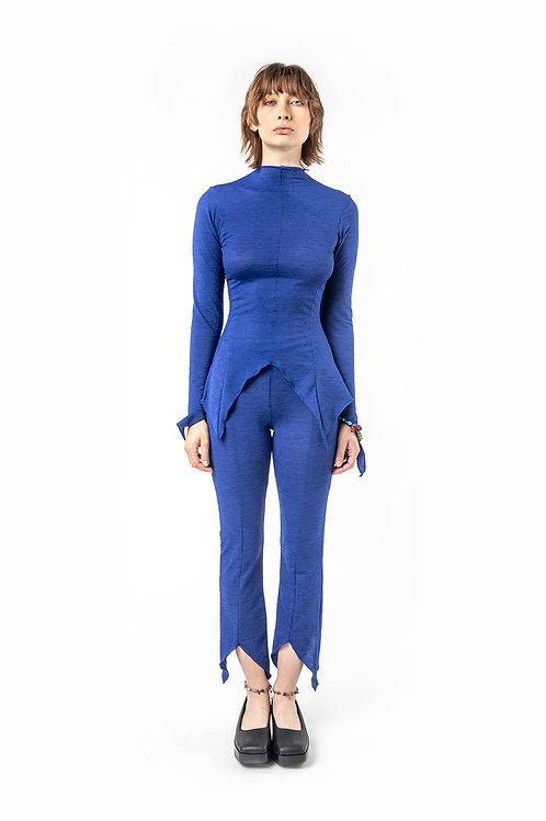 KA - HE - Web Merino Tights - Blue Stripe