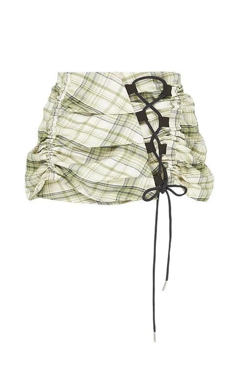 KARLA LAIDLAW -Ruched Mini Green