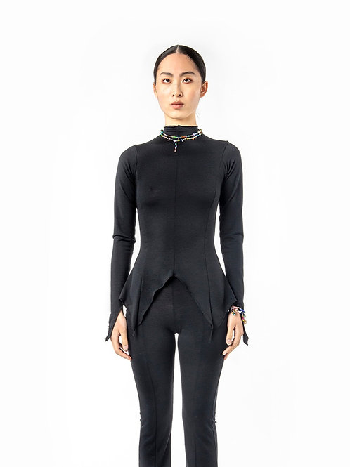 KA - HE - Web Merino Top - Black