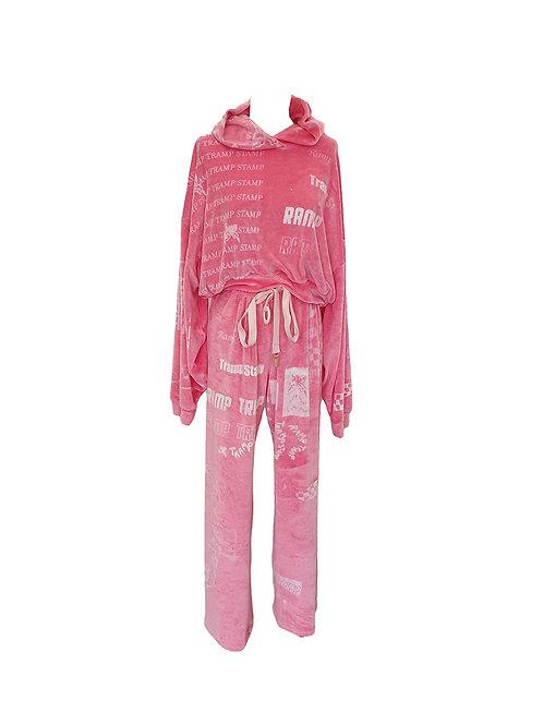 RAMP TRAMP STAMP - Yummy Mummy Valour Tracksuit Pant Pink