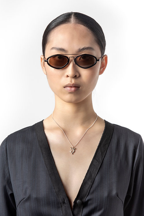 POMS- Fiori Black & Brown Sunglasses