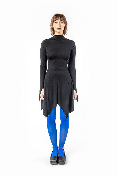 KA - HE - Web Merino Dress - Black