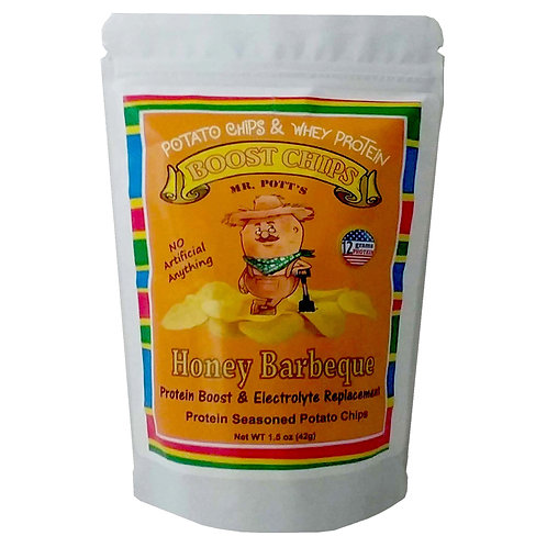 12 Pak Mr Pott's Boost Chips (Honey BBQ)