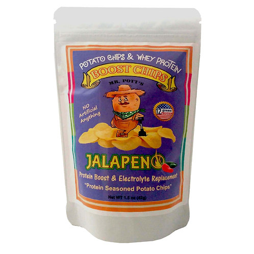 12 Pak Mr. Pott's Boost Chips (Jalapeno)