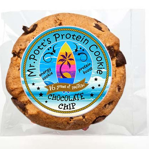 12 PAK Large - SurfBoard Chocolate Chip Protein Energy Cookie 16 grm