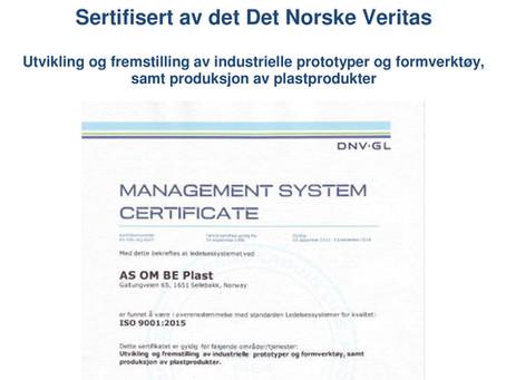 Nyhetsbrev-nr 1 ISO 9001-2015