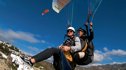 Parapente biplaza con monitor Cerro de Itrabo