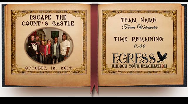 Team Winners _egressescaperoom