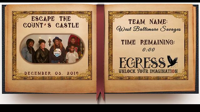 West Baltimore Savages _egressescaperoom