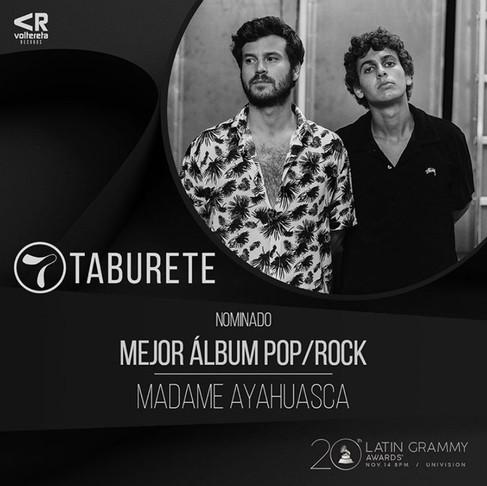 Taburete, nominado a los Latin GRAMMY