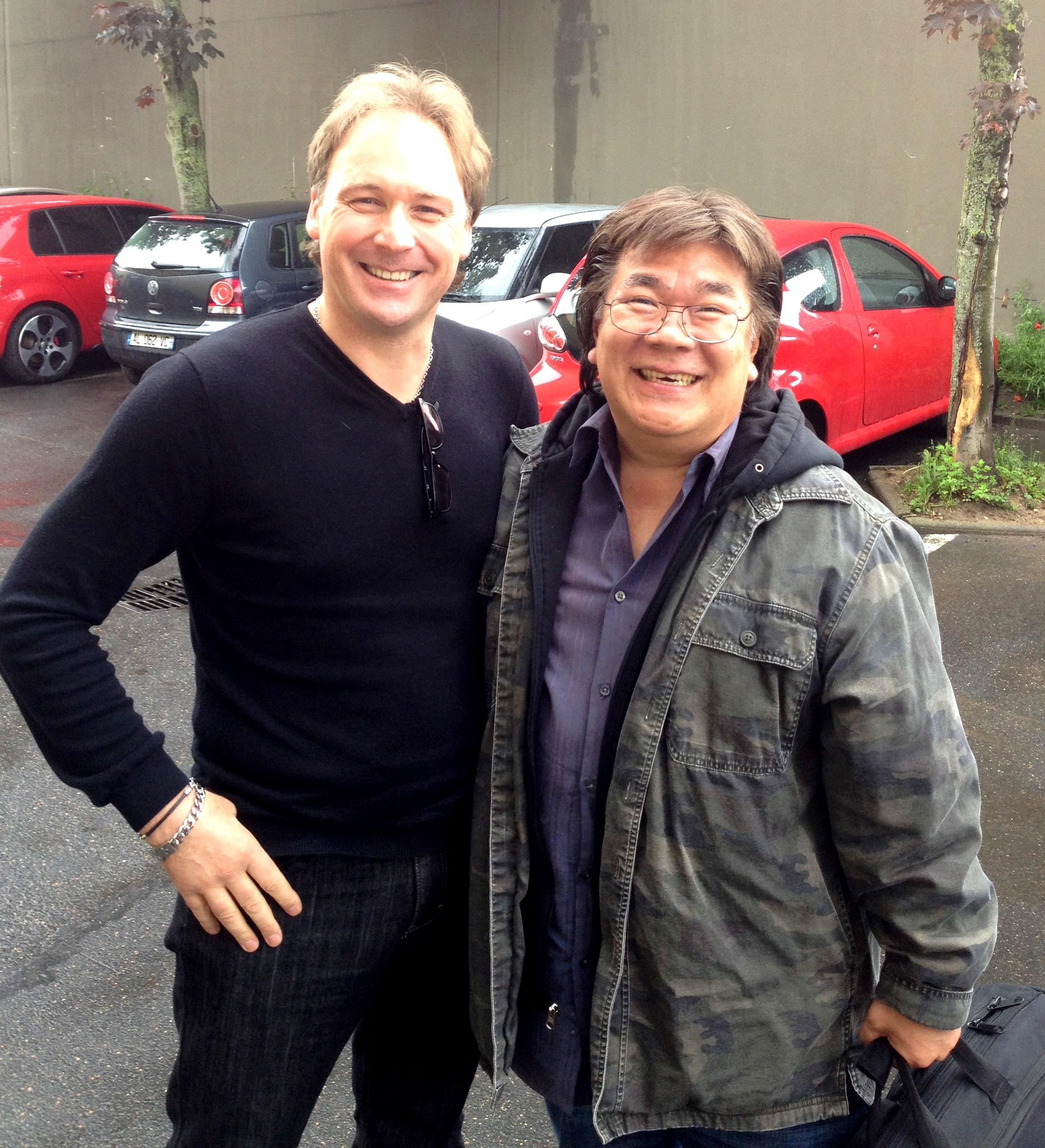 Avec Harry Kim ...