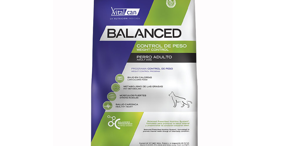Vital Can Balanced Control de Peso All Ages 12kg