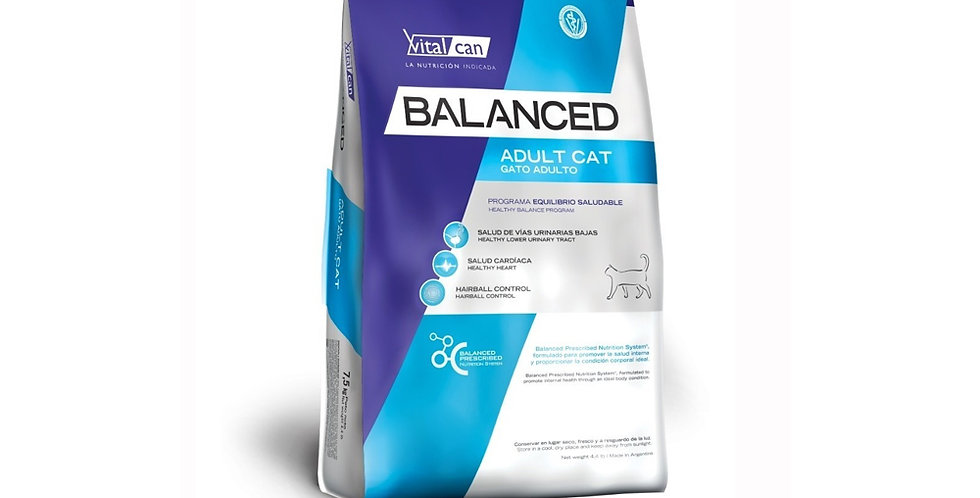 Vital Cat Balanced Gato Adulto 7.5kg