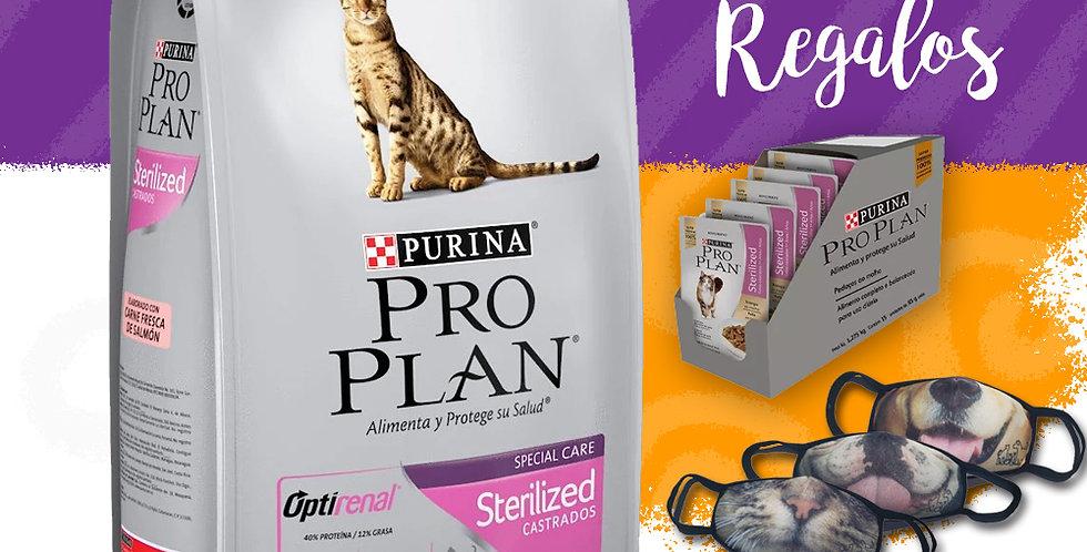 Pro Plan Gato Sterilized + 6 Pouch + Tapabocas