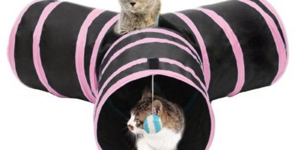 Juguete Interactivo Tunel en forma Y para Gatos PER-ROS