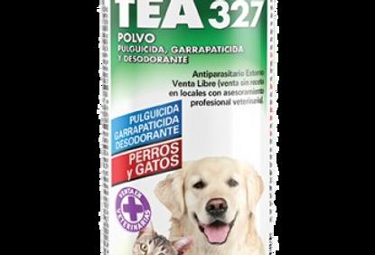 Tea 327 Polvo Pulguicida, Garrapaticida y Desodorante 100gr KONING