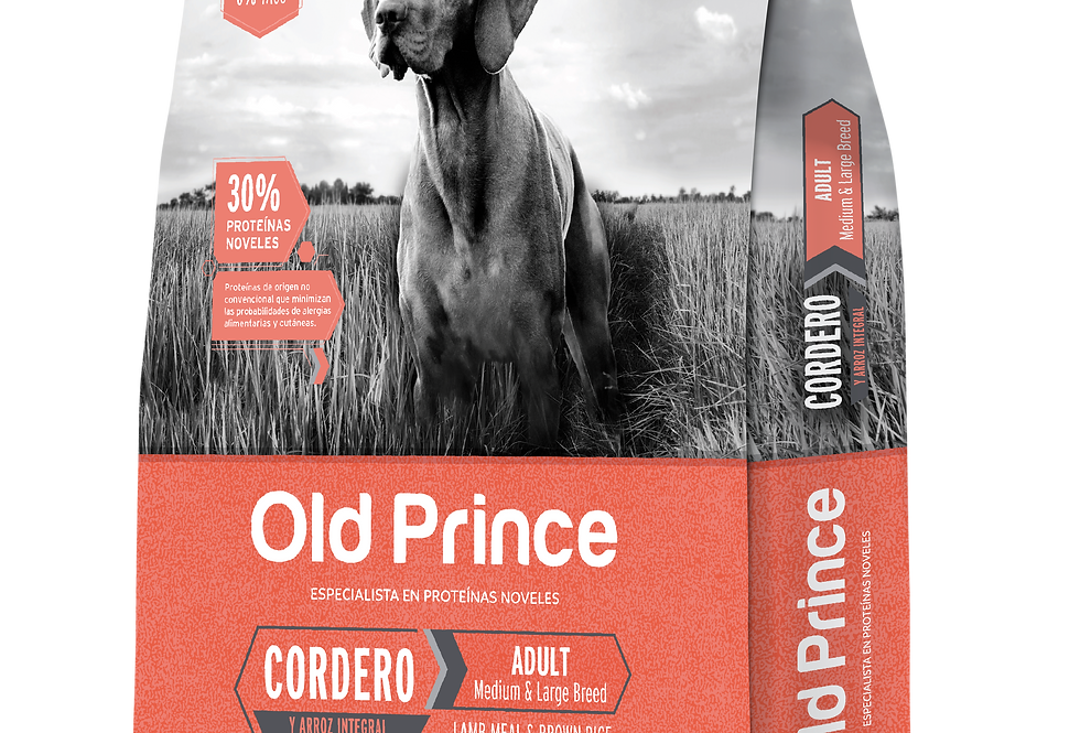 Old prince Perro Adulto Cordero y Arroz Medium and Large Breed