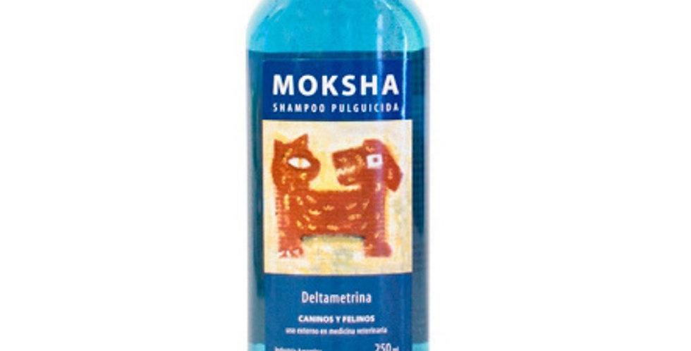 Shampoo Moksha Antiparasitario Pulguicida 250cc