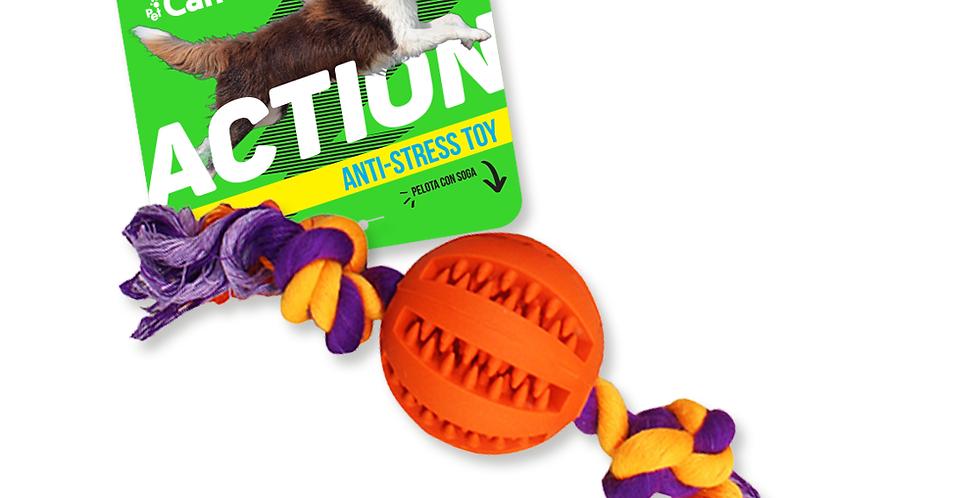 Juguete Perro Pelota Action C/soga CANCAT
