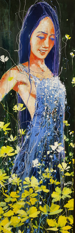 A59. La robe bleue, 150x50cm - 1800€