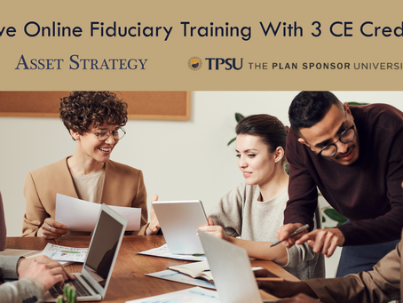 Live Online Fiduciary Training With 3 CE Credits