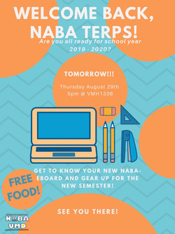 Welcome back, NABA Terps! (1)
