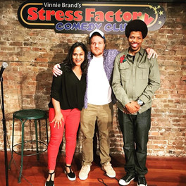 with Gareth Reynolds and Mike E. Winfield after the show at Stress Factory (New Brunswick, NJ)
