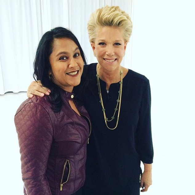 With Joan Lunden after I was interviewed by her for a segment that appeared on The Today Show (NBC).