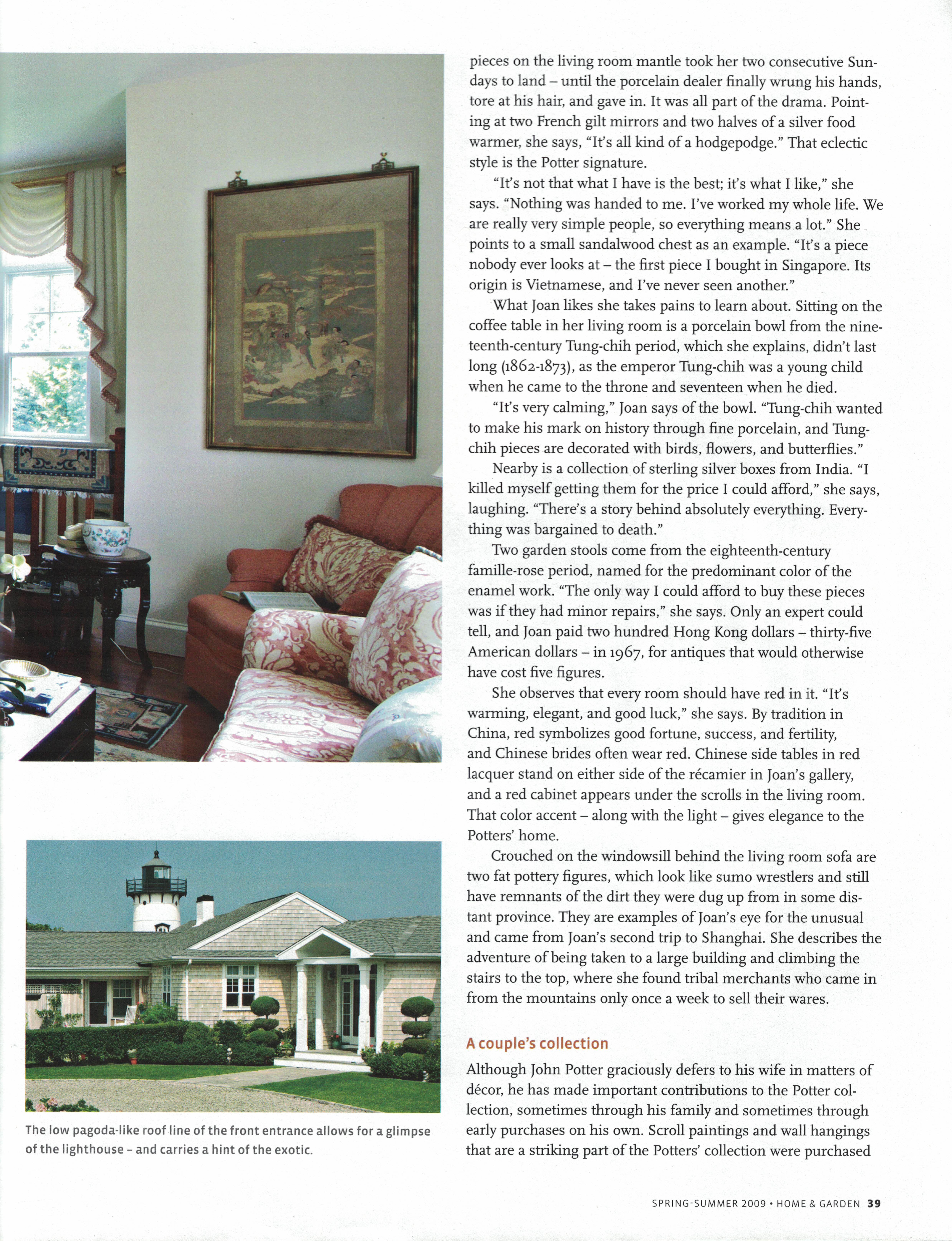 Marthas Vineyard Magazine Home & Garden Spring-Summer 2009 {Page 39}