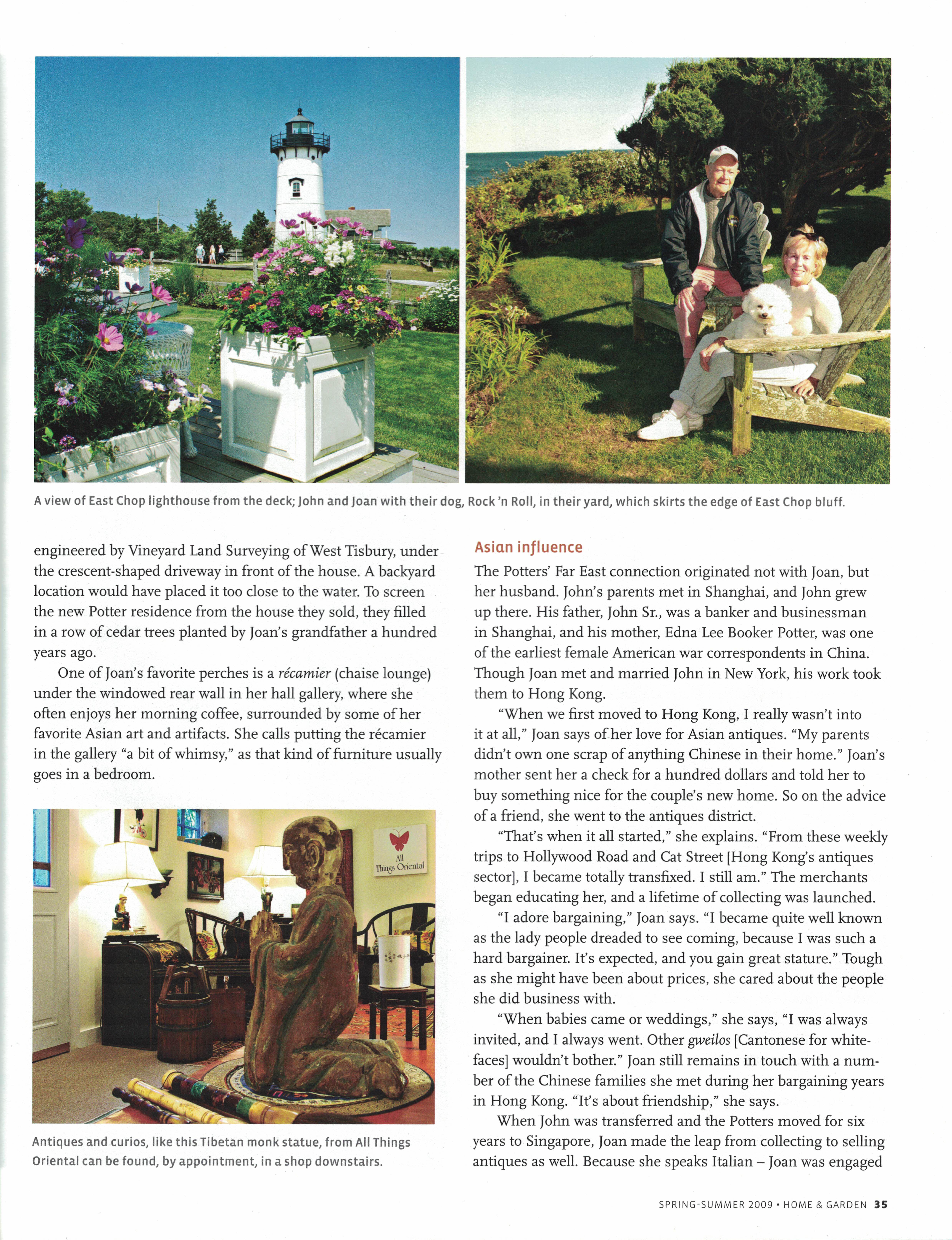 Marthas Vineyard Magazine Home & Garden Spring-Summer 2009 {Page 35}