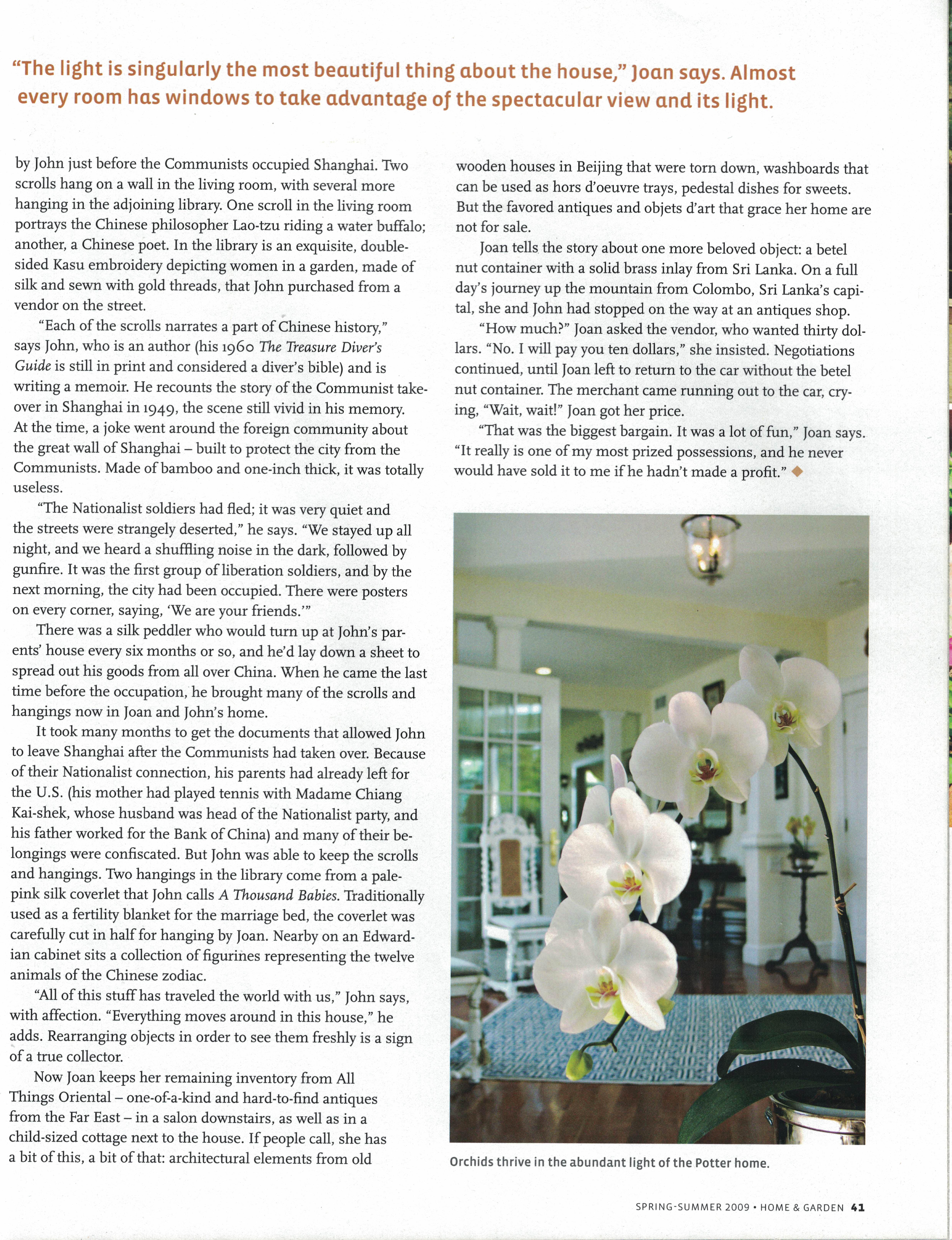 Marthas Vineyard Magazine Home & Garden Spring-Summer 2009 {Page 41}