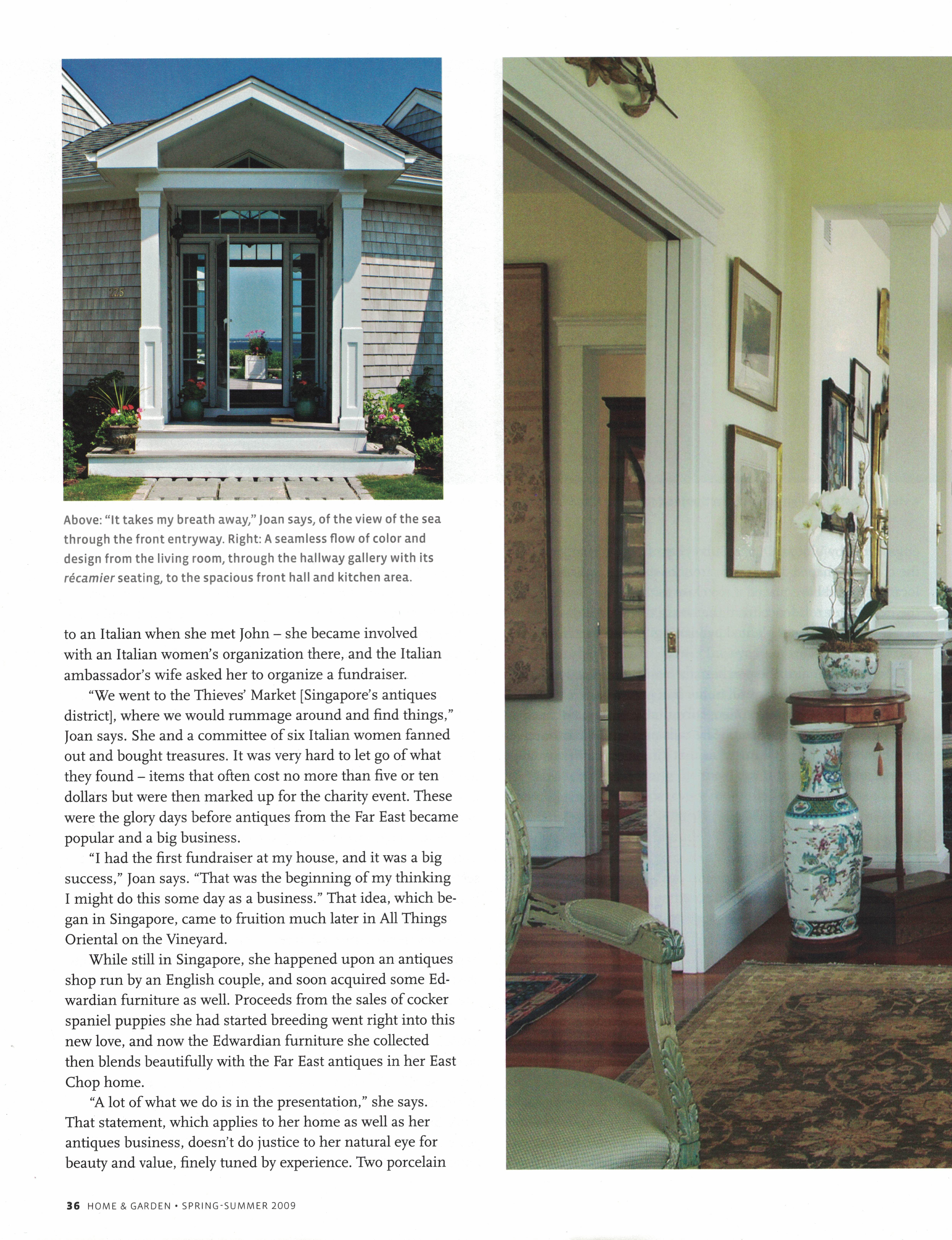 Marthas Vineyard Magazine Home & Garden Spring-Summer 2009 {Page 36}