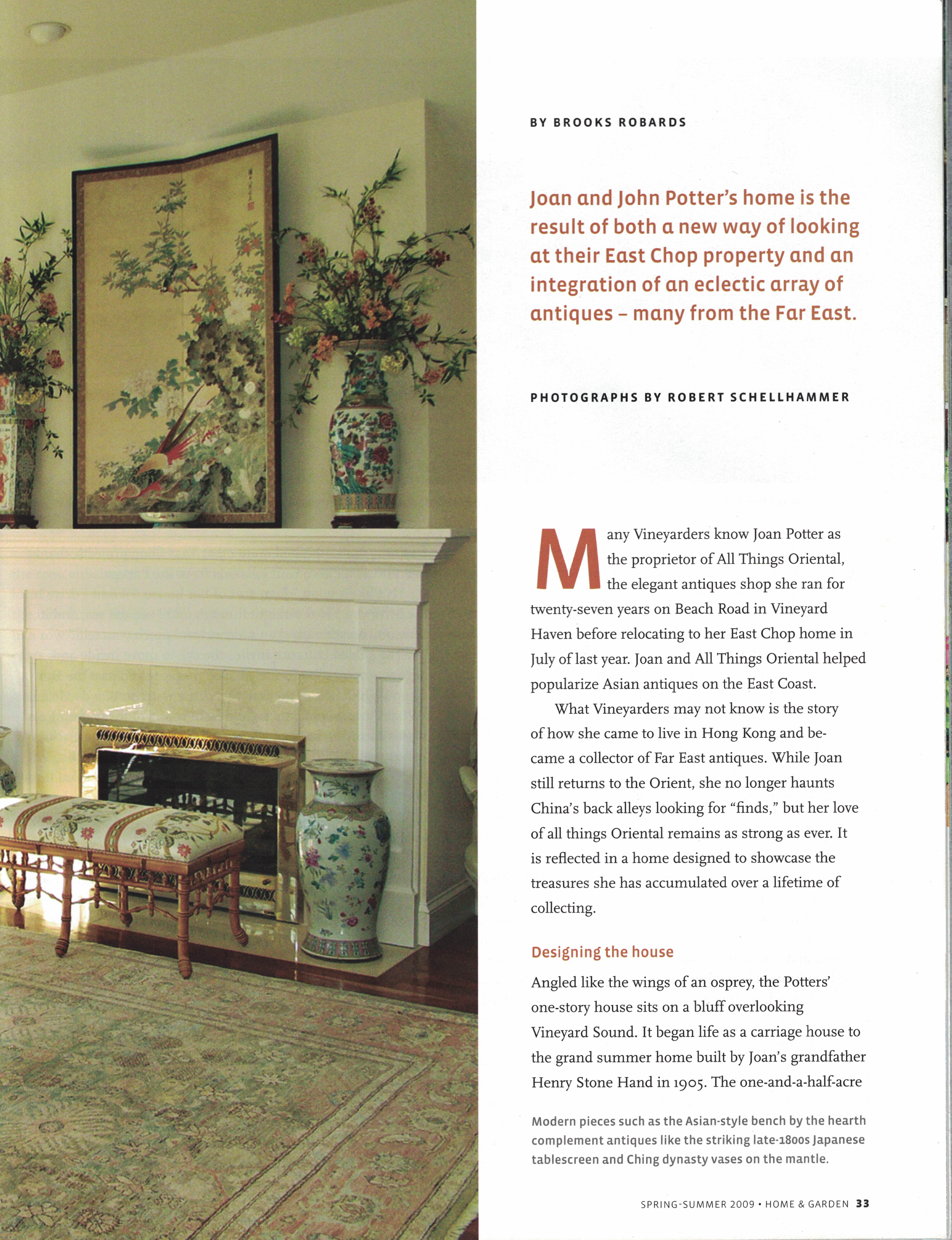 Marthas Vineyard Magazine Home & Garden Spring-Summer 2009 {Page 33}